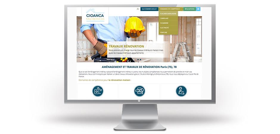 site web vitrine affichage web page intérieure
