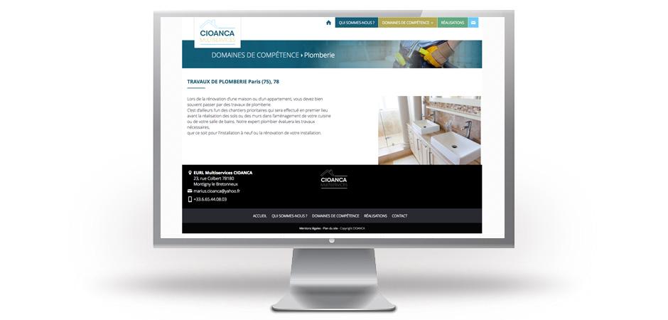 site web vitrine affichage web