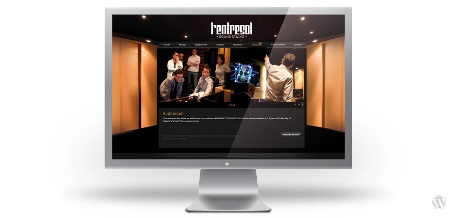 site internet lentresol wordpress